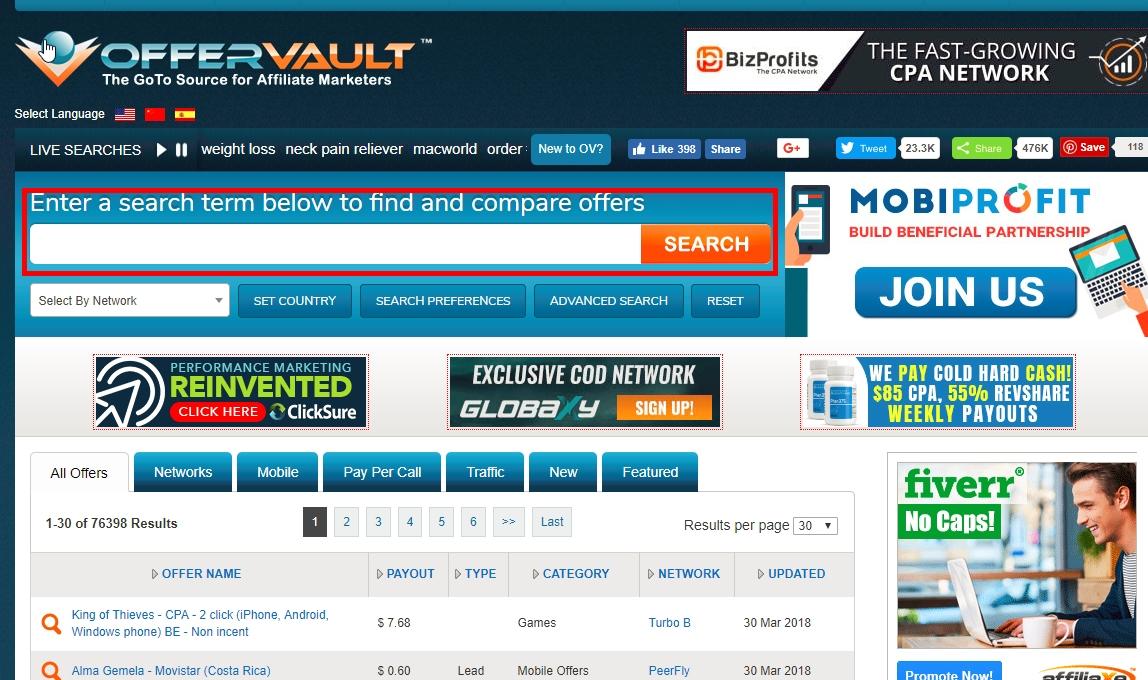 OfferVault Review - Affiliate Marketing, Make Money with CPA Offers - Ippei  Blog