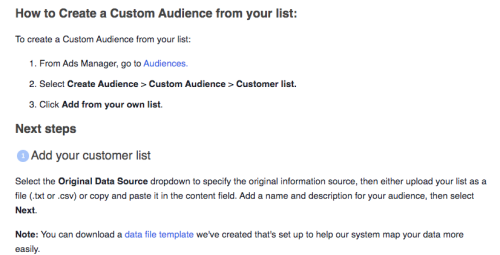 Facebook Ad Email Import