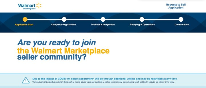Signing up for Walmart Marketplace picture
