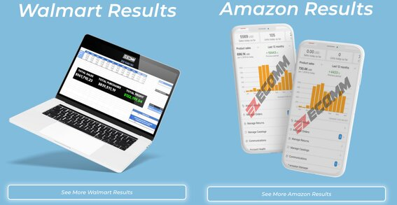 Walmart Results v Amazon Results Picture