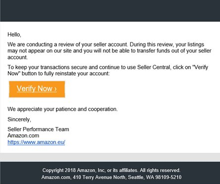 Review of Amazon FBA Account Screenshot